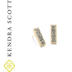 Lady Gold Studs Platinum Drusy   Kendra Scott